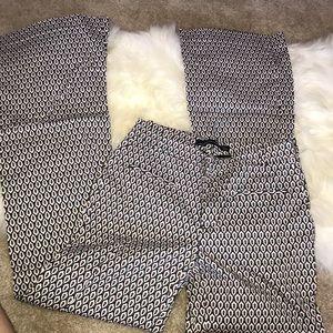 Zara women extra long pattern pants